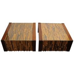Pair of Percival Lafer Brutalist Cocktail or Side Tables