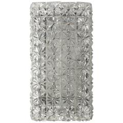 Faceted Crystals Rectangular Sconce / Flush Mount