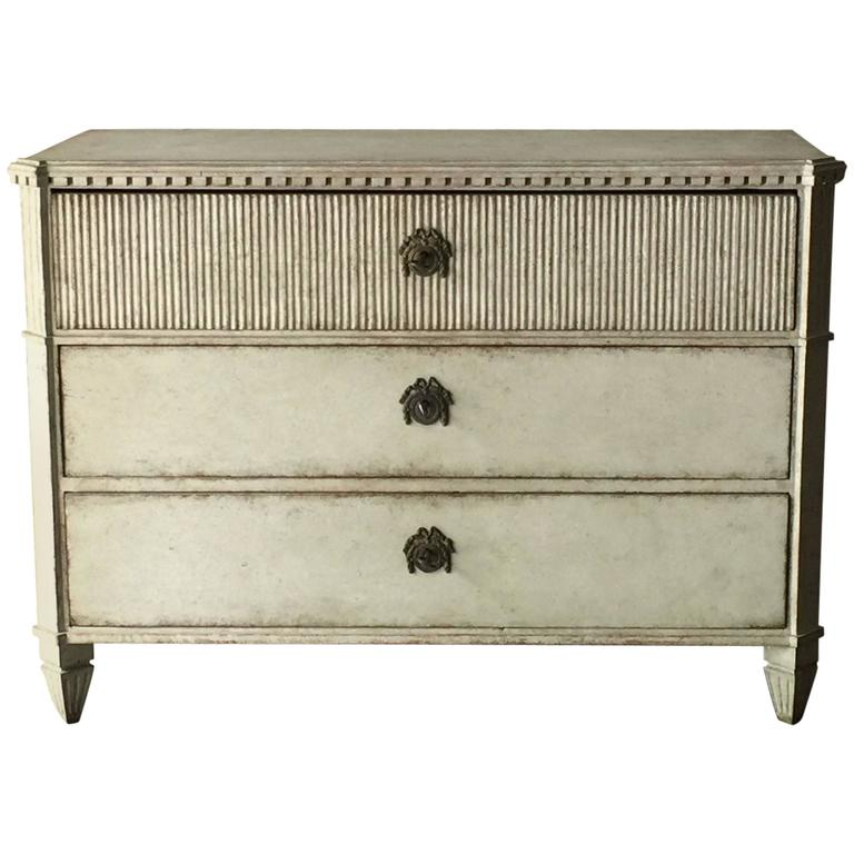 Period Swedish Gustavian Chest of Drawers For Sale