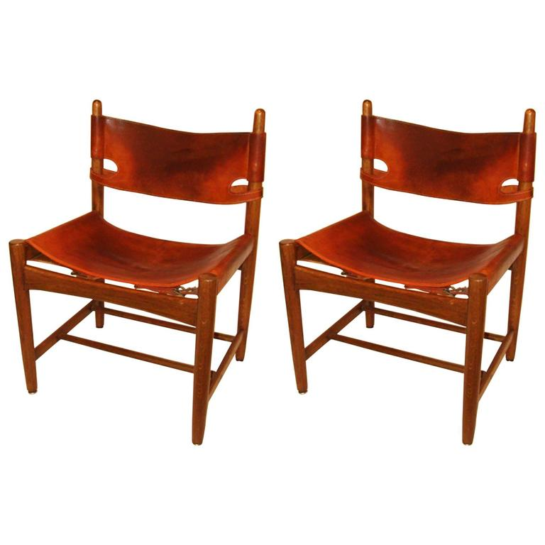"Pair of Vintage Borge Mogensen ""Hunting Chairs"""