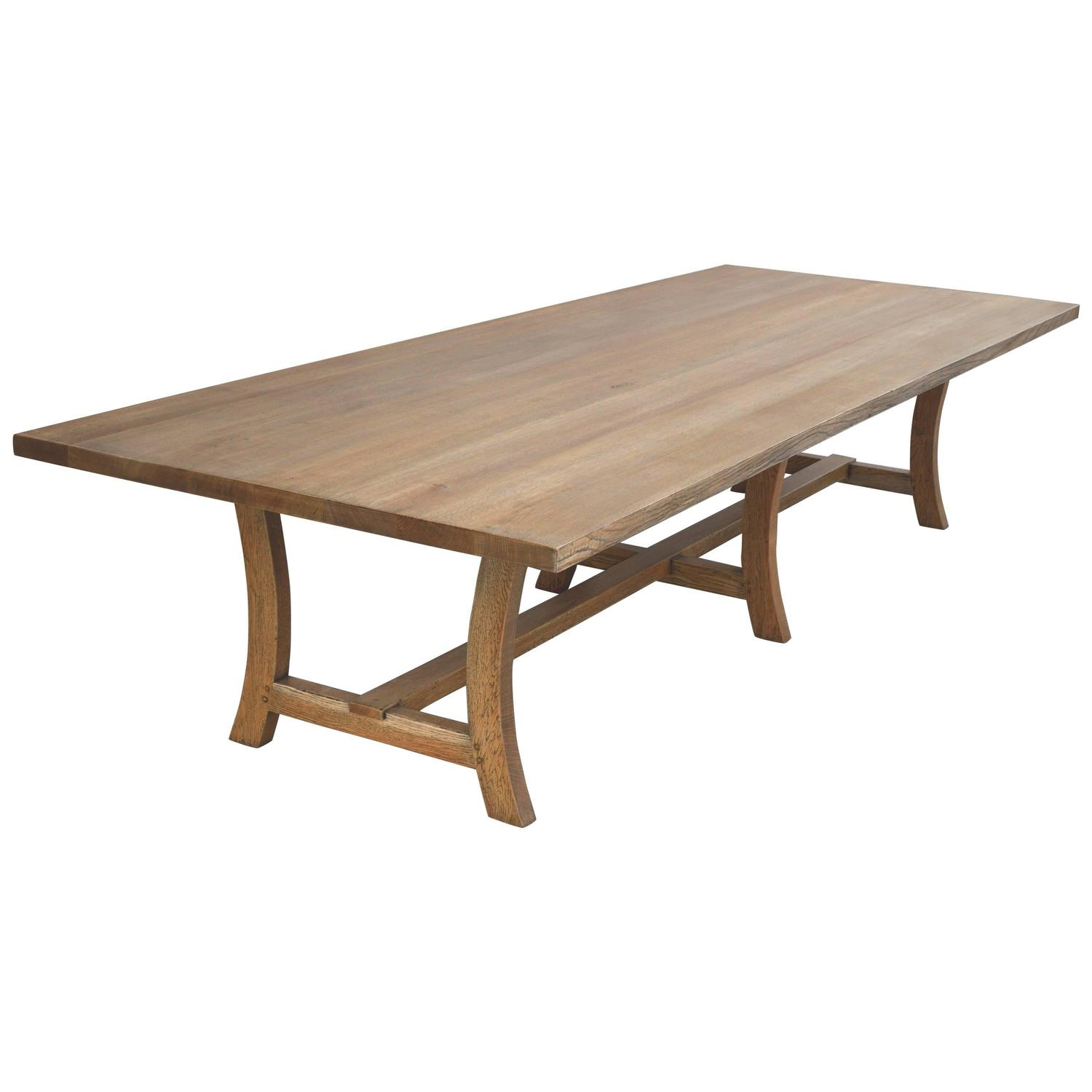 Custom dining table in rift sawn white oak for sale at 1stdibs