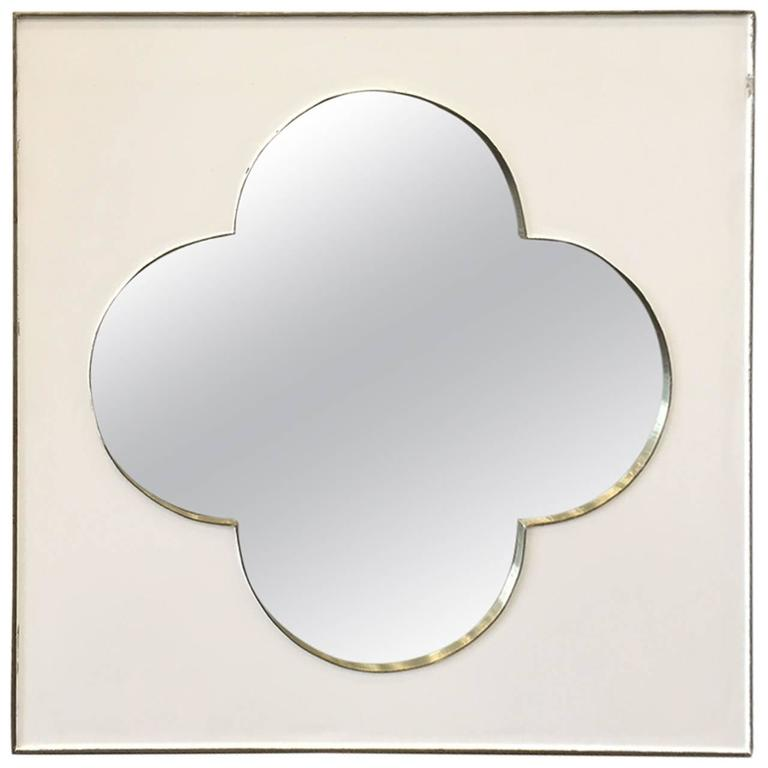 Silver metal framed moroccan mirror for sale at 1stdibs for Silver framed mirrors on sale
