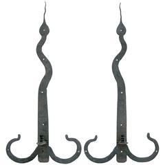 """Snake-Hinge"" Iron Sconces"