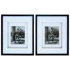 Rare Matched Pair of Bruce Bellas Male Physique Vintage Palm Springs Photographs
