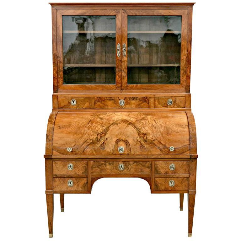 18th century louis xvi period bureau cylindre or cylinder desk for sale at 1stdibs. Black Bedroom Furniture Sets. Home Design Ideas