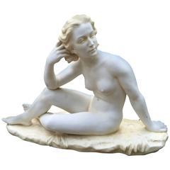 Lovely Erotic Age NUDE Sculpture, Art Nouveau, 19th century