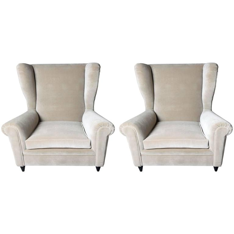 Pair of Armchairs in the Style of Gio Ponti, 1950