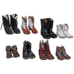 Collection of 1930s Children's Cowboy Boots
