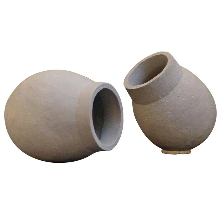 Sculptural Vessels in Gray by Sonja Duo-Meyer For Sale