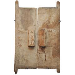 19th Century Wooden Granary Doors From Naga