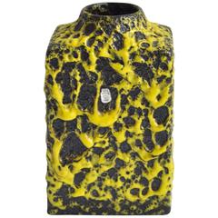 Bright Yellow ES Keramik Fat Lava Vase, 1970s