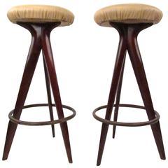 Pair of Mid-Century Modern Bar Stools
