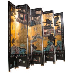 Large 8-Panel Coromandel Screen