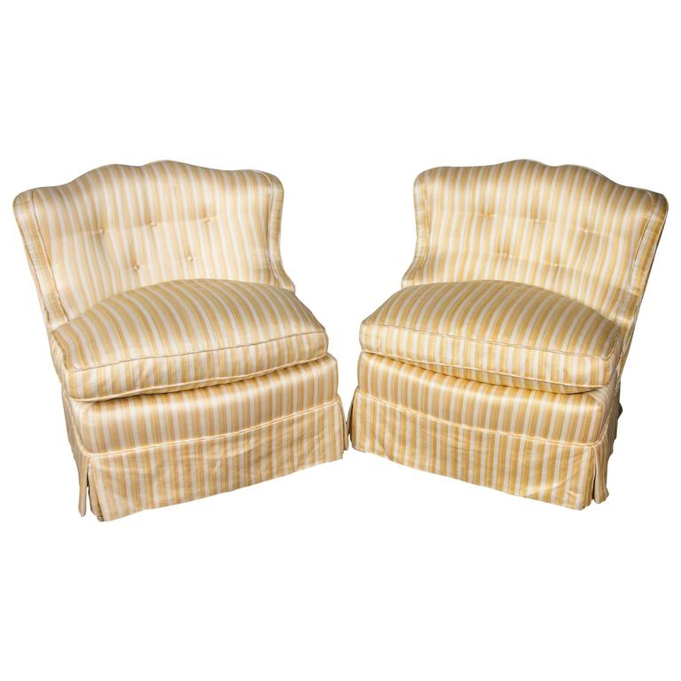 pair of slipper chairs for sale at 1stdibs
