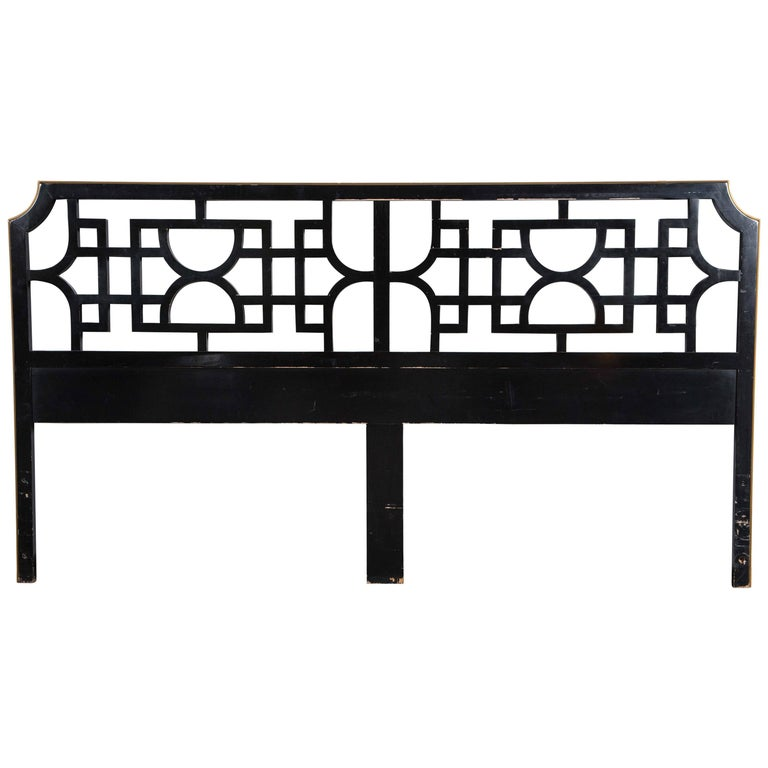 Chinoiserie, Fretwork Headboard, King-Size For Sale