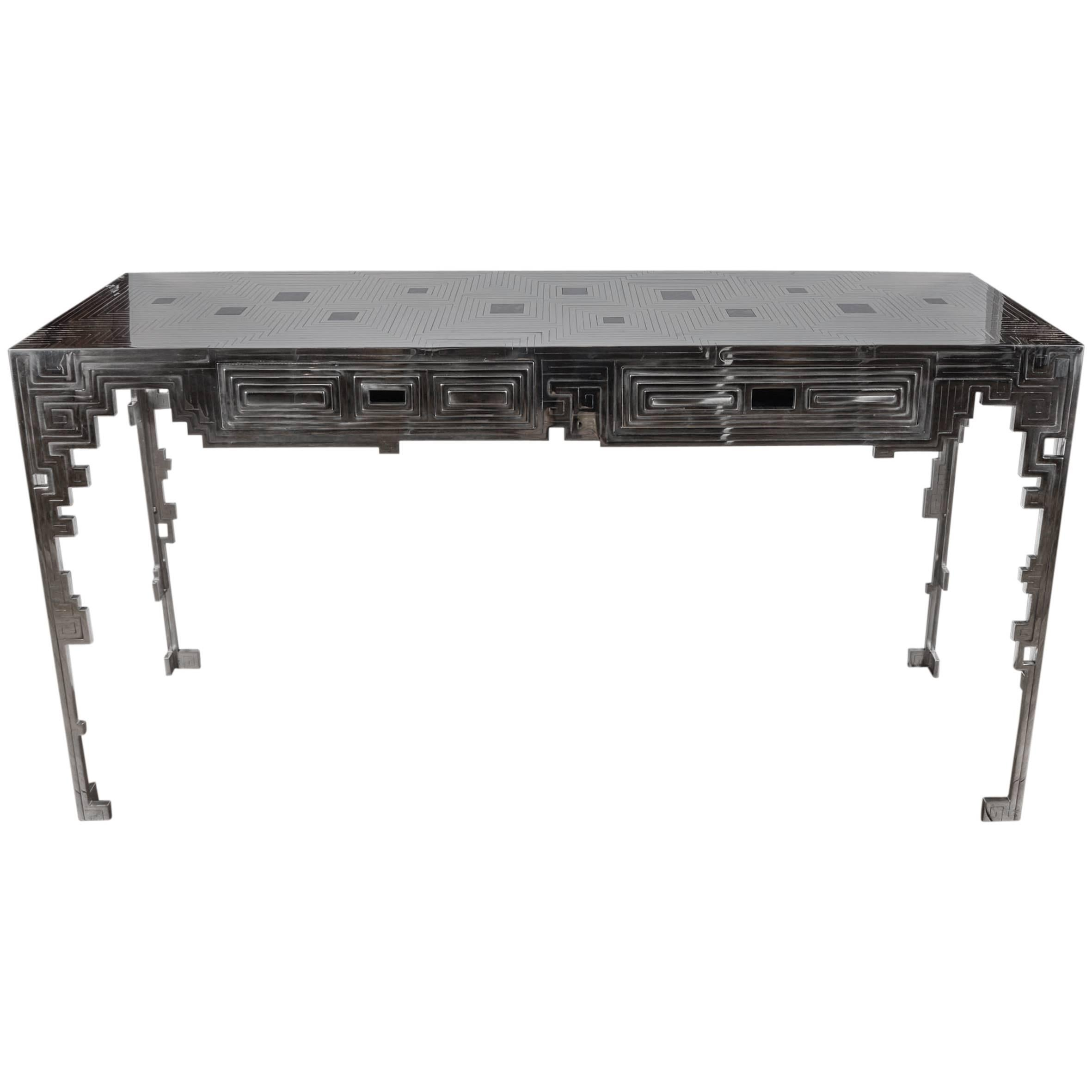 Steel Console by Erwan Boulloud at cost price.