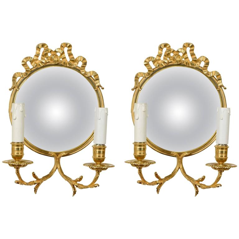 Pair of Unusual Louis XVI Style Sconces