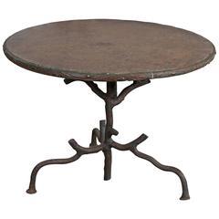 Faux Bois Iron Table