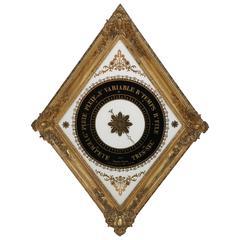 19th Century French Églomisé Barometer