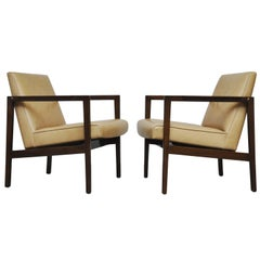 Edward Wormley Open Frame Lounge Chairs for Dunbar