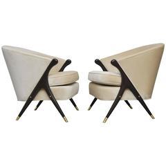 Karpen Scissor Chairs