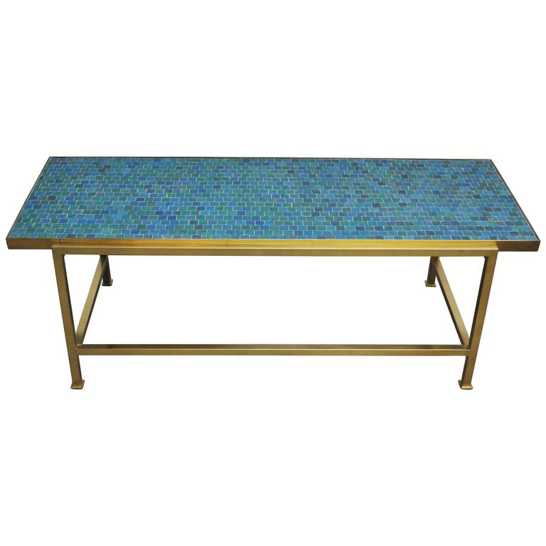 Dunbar Mosaic Murano Glass Tile Coffee Table By Edward