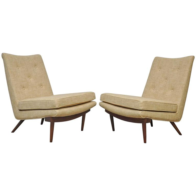George Nakashima Slipper Lounge Chairs