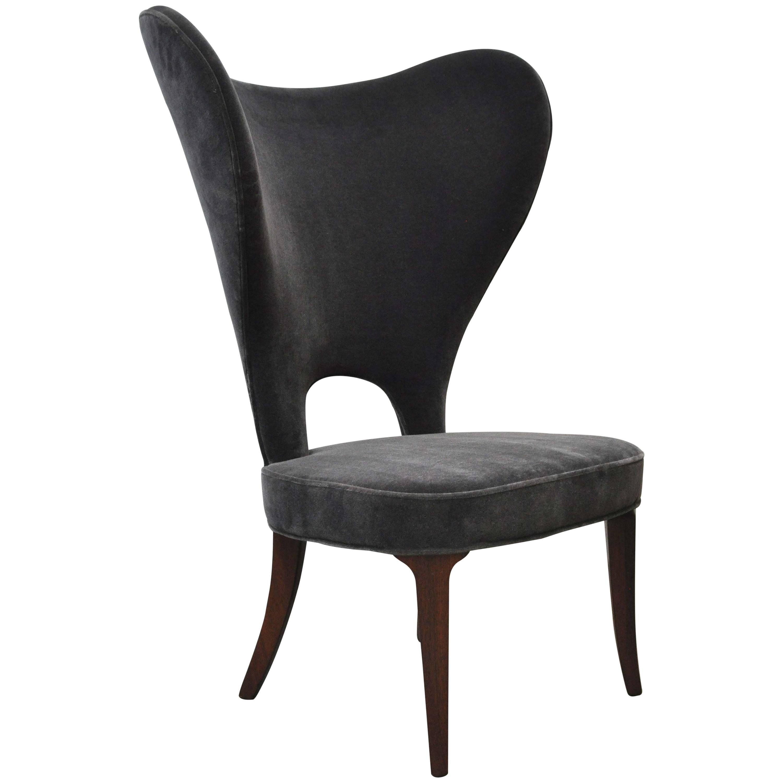 """Edward Wormley """"Heart Chair"""" Wingback for Dunbar"""