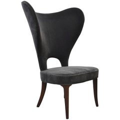 "Edward Wormley ""Heart Chair"" Wingback for Dunbar"