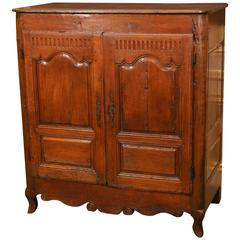 Antique Wormy Chestnut French Cabinet