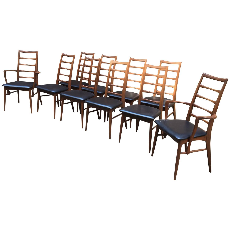 Ten Lis Niels Koefoed For Hornslet Danish Teak Dining Chairs Sale At 1stdibs