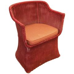 Billy Haines Style Classic Vintage Wicker Chair