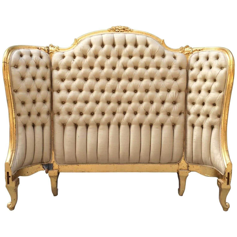 Louis xv bedroom furniture - Louis Xv Style Tufted Gilt Headboard