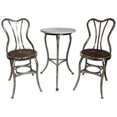 Mid-Century Three-Piece Ice Cream Parlor Suite