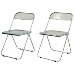 "Set of Two ""Plia"" Folding Chairs by Giancarlo Piretti"