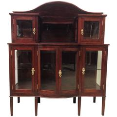 Modernist Mahogany Grand Buffet with Crest