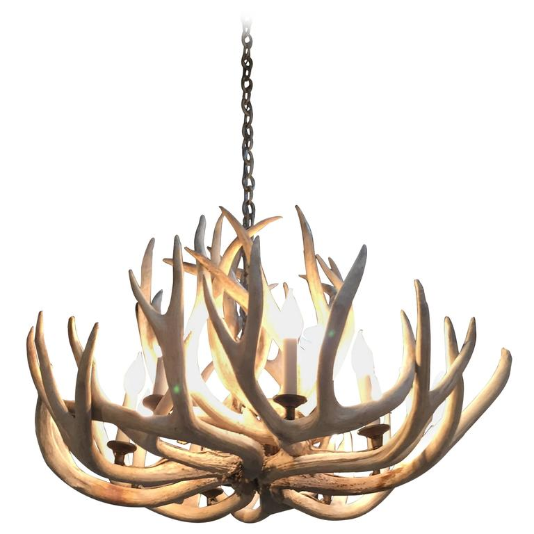 Very impressive authentic antique bleached antler chandelier for very impressive authentic antique bleached antler chandelier for sale aloadofball Image collections