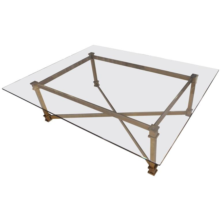 French Marble, Bronze And Brass Jaguar Coffee Table