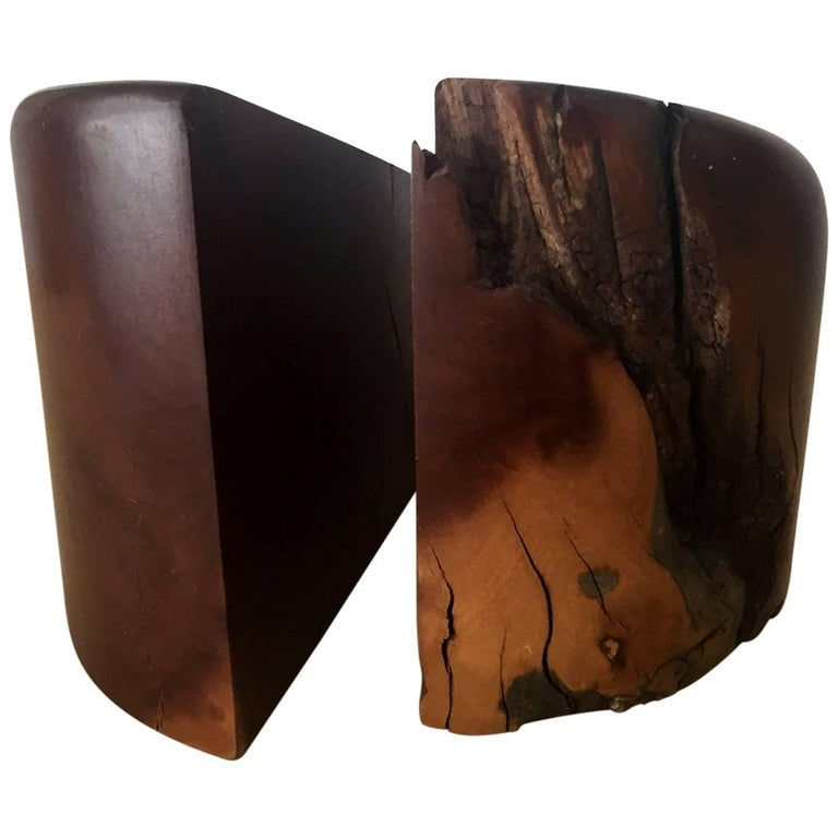 Pair of Cocobolo Bookends by Don Shoemaker For Sale