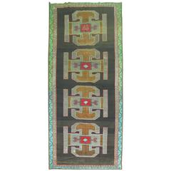 Vintage Turkish Kars Gallery Carpet
