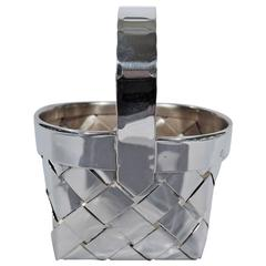 Cartier Handmade Sterling Silver Country Basket