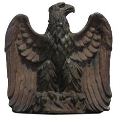 Early 19th Century Monumental Pottery Eagle Sculpture