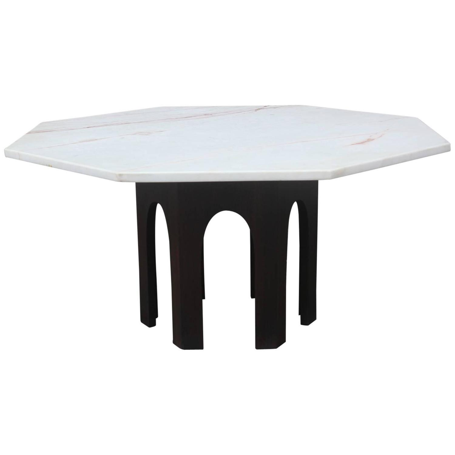 Marble Coffee Table Houston: Harvey Probber Marble-Topped Octagon Coffee Table For Sale