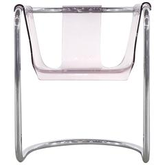 Fabio Lenci Lucite Desk Chair by Formes Nouvelles, Paris