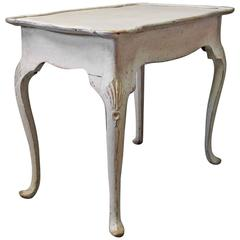 Grey Painted Wooden Tray Table in Gustavian Style, 1760