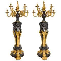 "Very Important Pair of Candelabra ""Aux Amours"" After Carrier-Belleuse Style"