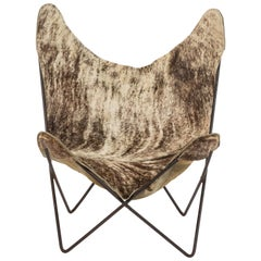Pony Hair on Hide Butterfly Chair