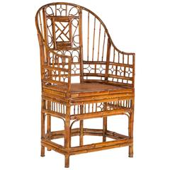 Curved Bamboo Fretwork Chair