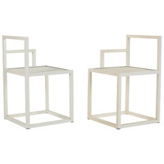 Pair of Powder Coated Steel Prototype Chairs by Jonathan Nesci