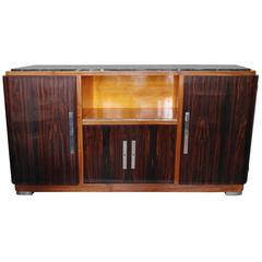 Art Deco Full Mahogany and Ebene de Macassar Sideboard